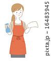 主婦 エプロン 拭き掃除のイラスト 16483945