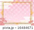 春・和風アールデコ背景 16484671