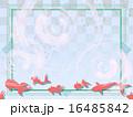夏・金魚・和風アールデコ背景 16485842