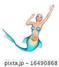 人魚 マーメイド 泳ぐのイラスト 16490868