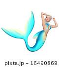 人魚 マーメイド 泳ぐのイラスト 16490869