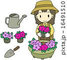 花苗 植える 女性 16491510