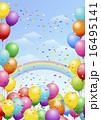 風船 背景 festival background with balloons 16495141