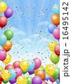 風船 背景 festival background with balloons 16495142