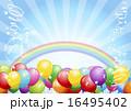 風船 背景 holiday background with balloons 16495402