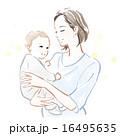 抱く 子育て 親子のイラスト 16495635