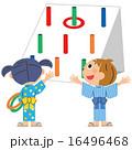 輪投げで遊ぶ子供 16496468