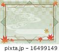 秋・もみじ・和風アールデコ背景 16499149