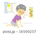 熱中症 室内 おばあさん 16500237