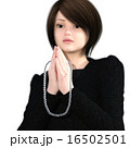 拝む 数珠 合掌のイラスト 16502501