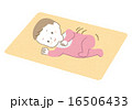 寝返りをうつ赤ちゃんイラスト 16506433