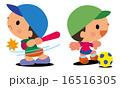 野球 球技 ベクターのイラスト 16516305