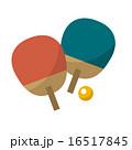 ラケット ピンポン 卓球のイラスト 16517845