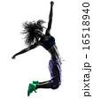 woman zumba dancer dancing exercises silhouette 16518940