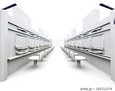 白いパチンコ店 16521374