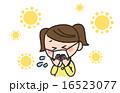 くしゃみ 咳 女の子のイラスト 16523077