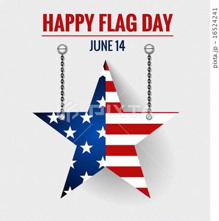 American Flag Day, 14 of June Flag Day. Vector illustration. 16524241