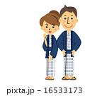 男女 ベクター 温泉旅行のイラスト 16533173