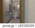 便器 洋式トイレ 水洗トイレのイラスト 16536209