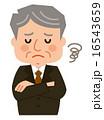 年配の男性スーツ悩む 16543659