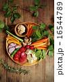 ディップ 野菜スティック 野菜の写真 16544789