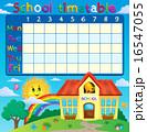 School timetable with school building 16547055