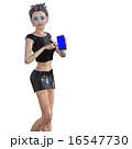 ビューティーアンドロイド perming 3DCG イラスト素材 16547730