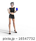 ビューティーアンドロイド perming 3DCG イラスト素材 16547732