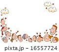 注目する色々な人々の顔 16557724