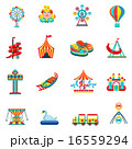 Amusement park icons set 16559294