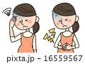 腹痛 頭痛 女性のイラスト 16559567