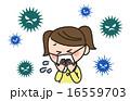 風邪 ウイルス 子供のイラスト 16559703