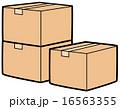 ベクター 梱包 ダンボール箱のイラスト 16563355