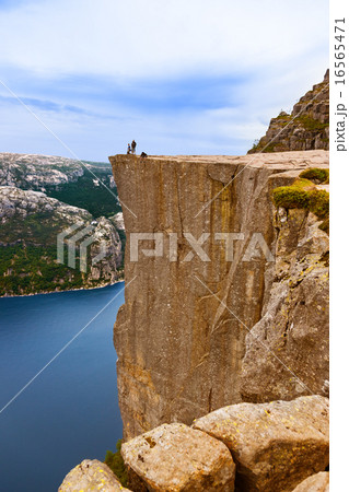 Cliff Preikestolen in fjord Lysefjord - Norway 16565471