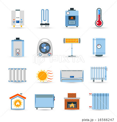 Heating Flat Color Icon Setのイラスト素材 [16566247] - PIXTA
