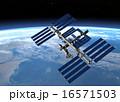 宇宙ステーションと地球 perming3DCG 16571503