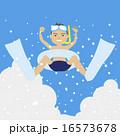 夏休み 飛び込み ベクターのイラスト 16573678