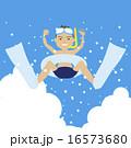 夏休み 飛び込み ベクターのイラスト 16573680