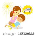 救急車 日射病 熱中症のイラスト 16580688