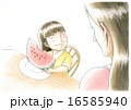 スイカを食べる女の子 16585940