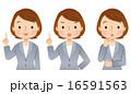 ビジネスウーマン バリエーション 表情のイラスト 16591563