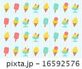 アイスクリーム 背景 イラスト 16592576