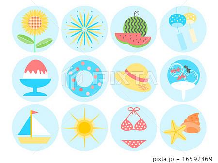 夏イメージ イラスト アイコンのイラスト素材 16592869 Pixta