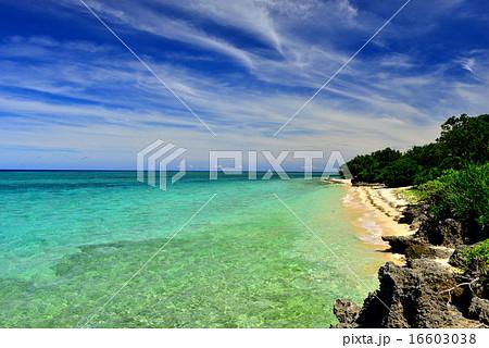 沖縄の離島 鳩間島の風景写真 16603038