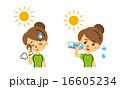 水分補給 熱中症対策 ベクターのイラスト 16605234