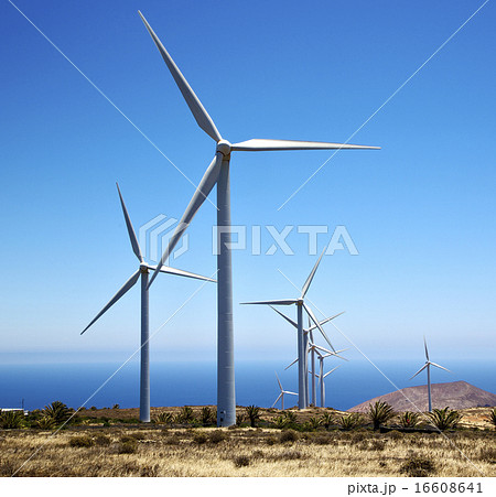 africa winturbines and the sky in  is