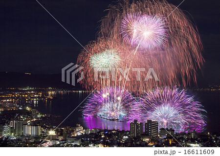 諏訪湖の花火 16611609