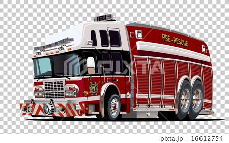 Vector Cartoon Fire Truck 16612754