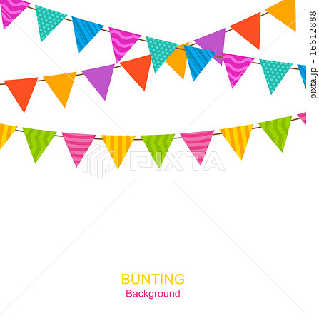 Colorful Buntings Flags Garlandsのイラスト素材 [16612888] - PIXTA