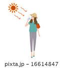 熱中症対策 女性 イラスト 16614847